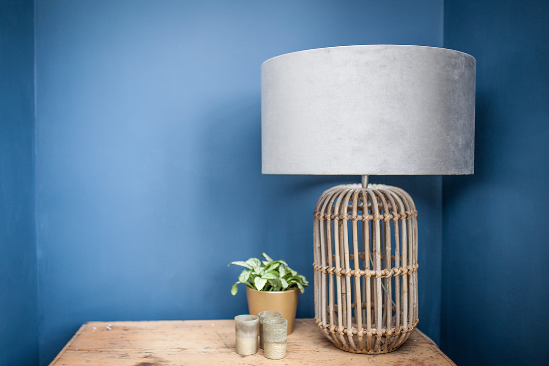 Soft Grey Velvet Lampshade | Ed & Co Designs